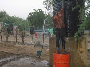 Tagantassou water tank connection to school tap