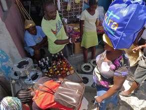 Zanmi Pye Bwas are sold throughout Port-au-Prince