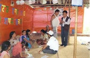WATA Dai, interacting with women of slum areas