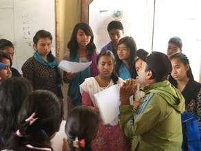 Orientation before start of door-to-door campaign