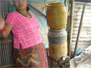 Water filtration system used in slum