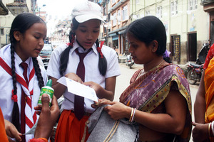 Students Promoting WATASOL in local festival
