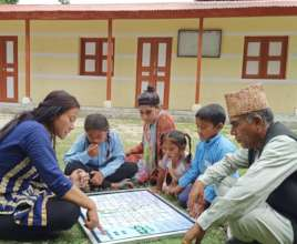 Snake & Ladder game which provides WASH messages