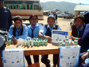 Watasol Stall by the students in their community
