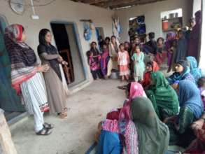 Meeting going on in village