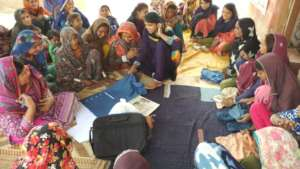 Sewing centers of women