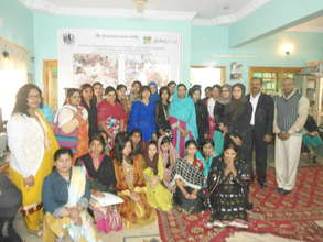 A group photo of young girls at AHD Office