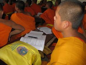 Novice Monks in Laos
