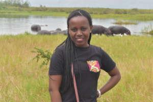 Joselyne on the 2019 Graduate Safari Trip