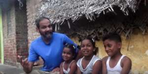 Brij Kothari with children