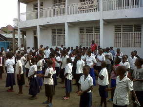 Children after playing time at Bujovu center