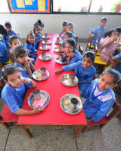 Having a meal together has improved social skills