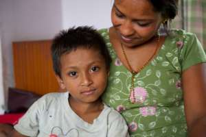 Mother and son at New Life Center