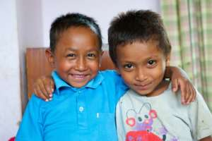 Two boys at New Life Center