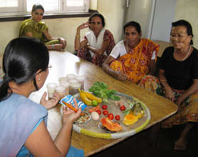 Nutrition training for parents of kids with HIV
