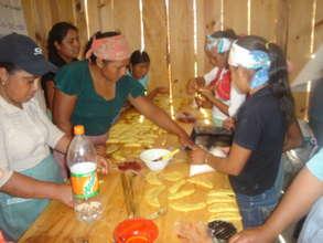 DESMI members making bread