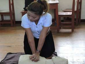Learning CPR at Bangkoknoi Non-Formal School