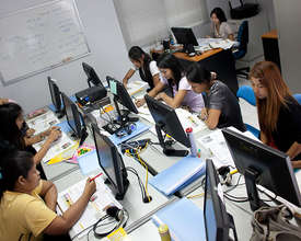 Students attending Computer Training