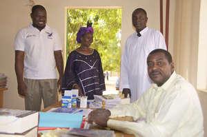 The administrative staff at Hampate Ba School