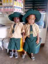 Kids At The Pre-school Wearing New Uniforms
