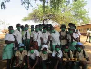 Distributing Masks To Rimbi High School