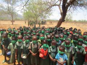 Distributing Masks To Mbeure Primary School