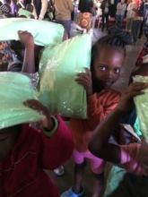 Children with nets