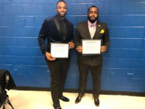 Free Minds members Nick & Davon at Pathways Grad.