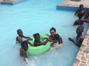 Swimming with Cori from the US Embassy