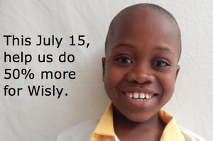 It's a great day to help Wisly and all the kids