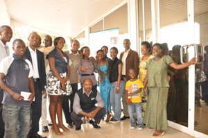 Participants at the new National Archives