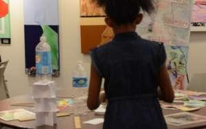 Kindergarteners practice design engineering