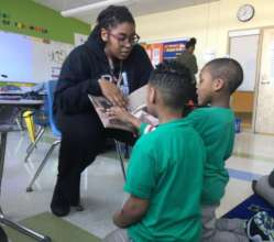 Jay Banks and class read Crossing Bok Chitto