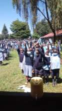 Mask distribution at Thunguma Primary School