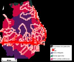 2018 patrol locations in Okapi Wildlife Reserve