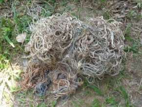 Confiscated nylon snares