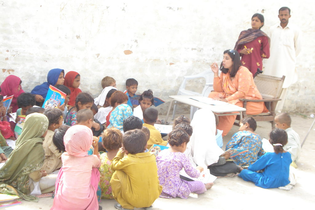 School for the flood hit children in Pakistan