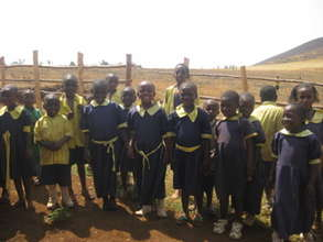 Pupils from the village school