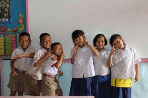 Some of the children we are teaching!