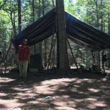 Mark in Camp Forest's common area