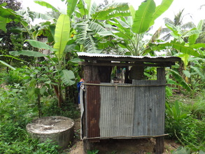 Toilet provided by CRDT to Sopheun's family