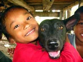 Ina and dog.