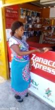 Depositing savings at a mobile bank