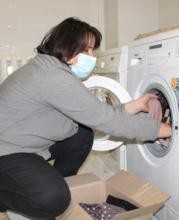 Alla Washes Clothes