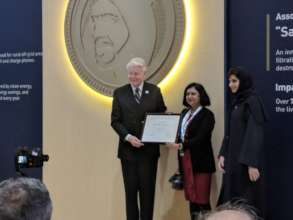 Dr. Shelly receives prize at Zayed award ceremony