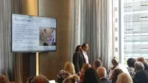 Sandeep Ahuja giving presentation at MIT Solve