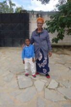 Grandma with her grandson