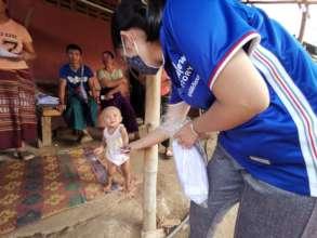 Distributing masks throughout Northern Thailand