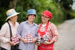 Ladies in the village talking