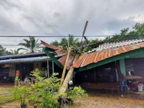 Destruction caused by Sinlaku in Trat province